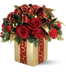 Teleflora's Holiday Gift Bouquet in South Haven MI, The Rose Shop