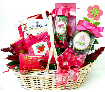 GF88 ''Her Delight'' Gourmet Gift Basket in Oklahoma City OK, Array of Flowers & Gifts