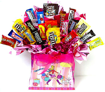 CB154  ''You're a Sweetie'' Candy Bouquet in Oklahoma City OK, Array of Flowers & Gifts