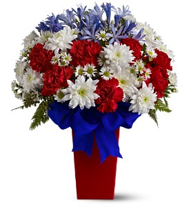 Patriotic Petals Bouquet in Des Moines IA, Doherty's Flowers