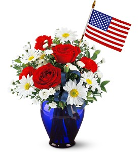 Spirit of America Bouquet in Santa Monica CA, Edelweiss Flower Boutique
