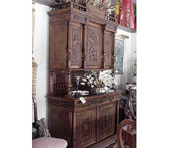 French Walnut Hunt Cabinet in San Antonio TX, Allen's Flowers & Gifts
