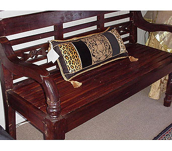 Teak Wood Bench in San Antonio TX, Allen's Flowers & Gifts