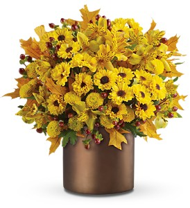 Teleflora's Golden Season in New Rochelle NY, Flowers By Sutton