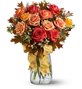 Graceful Autumn Roses in Placentia CA, Expressions Florist