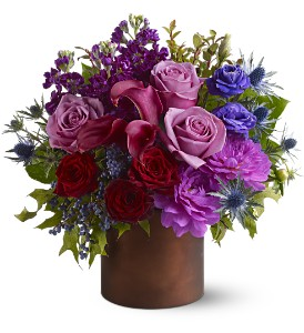 Teleflora's Plum Gorgeous in Santa Monica CA, Edelweiss Flower Boutique