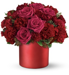 Teleflora's Say it in Scarlet Bouquet in New Rochelle NY, Flowers By Sutton