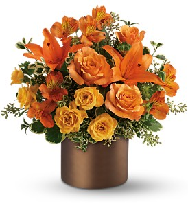 Teleflora's Sunset Glow in New Rochelle NY, Flowers By Sutton