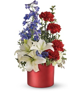 Teleflora's Love that Red Bouquet in Jamesburg NJ, Sweet William & Thyme