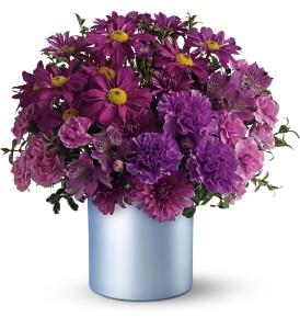 Teleflora's Vivid Violet Bouquet in Salt Lake City UT, The Flower Box