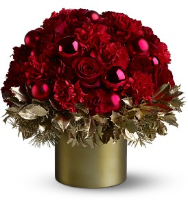 Teleflora's Golden Holly-Day in Poway CA, Crystal Gardens Florist
