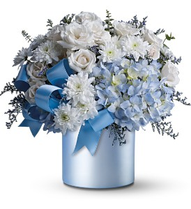 Teleflora's Baby Blue in Jamesburg NJ, Sweet William & Thyme