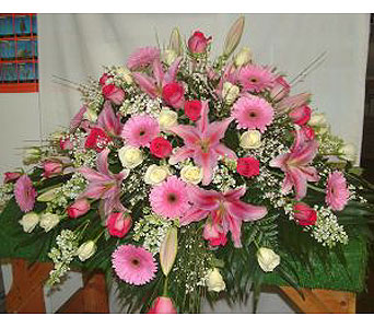 Graceful Tribute Casket Spray in Salisbury MD, Kitty's Flowers