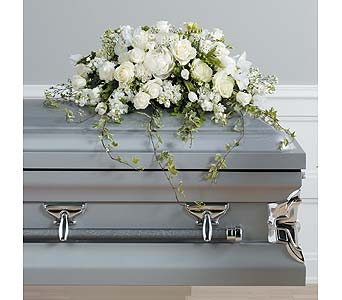 White Casket Spray in Abington MA, The Hutcheon's Flower Co, Inc.