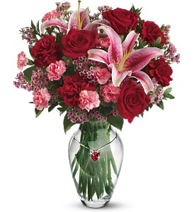 Teleflora's Rubies & Roses Bouquet in Columbus NJ, Twisted Willow Flowers