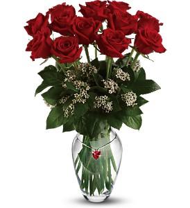 Teleflora's Ruby Heart Bouquet in Mount VernonWA, Enchanted Florist