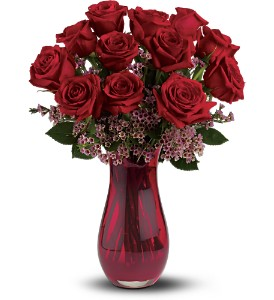 Teleflora's Red Rose Dozen Bouquet in Santa Clarita CA, Celebrate Flowers and Invitations