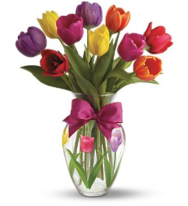Teleflora's Spring Tulips Bouquet in Philadelphia PA, Flower & Balloon Boutique