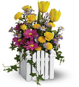 Teleflora's Picket Fence Bouquet in Grottoes VA, Flowers By Rose