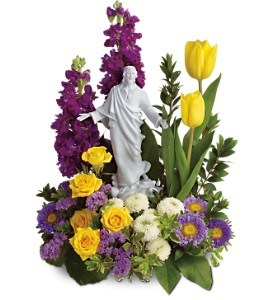 Teleflora's Sacred Grace Bouquet in Houston TX, Village Greenery & Flowers