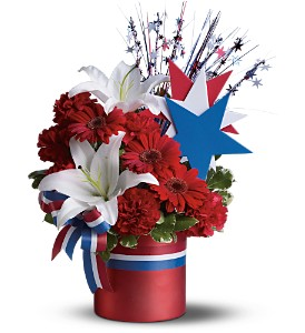 Vote Red Bouquet in Poway CA, Crystal Gardens Florist