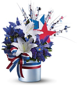 Vote Blue Bouquet in Olean NY, Uptown Florist