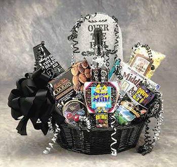 Over The Hill Birthday Basket In Pleasanton Ca Tri Valley Flowers