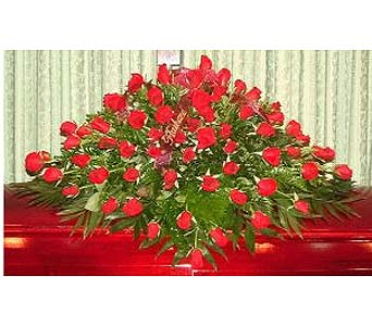 Red Rose Casket Spray in Salisbury MD, Kitty's Flowers