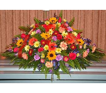 Vibrant Remembrance Casket Spr in Salisbury MD, Kitty's Flowers