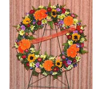 Vibrant Remembrance Wreath in Salisbury MD, Kitty's Flowers