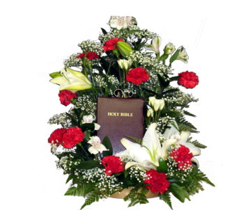 Bible Arrangement in Perry Hall MD, Perry Hall Florist Inc.