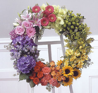 Standing Wreath of Colors in Baltimore MD, Raimondi's Flowers & Fruit Baskets