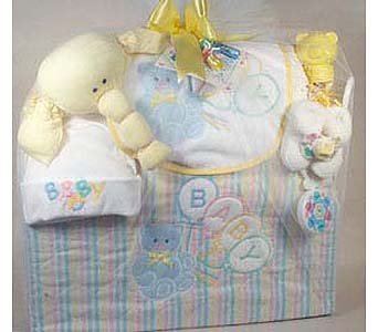 Baby Tote Gift Neutral in New York NY, CitiFloral Inc.