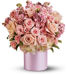 Teleflora's Pinking of You Bouquet in Santa Monica CA, Edelweiss Flower Boutique