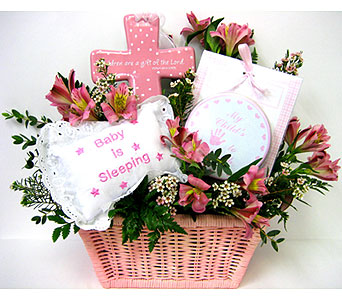 BabyGB55 ''God Bless Baby''  Flower & Gift Basket in Oklahoma City OK, Array of Flowers & Gifts
