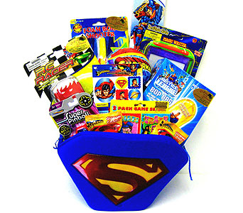 KGB12  ''Superman'' Gift Basket in Oklahoma City OK, Array of Flowers & Gifts
