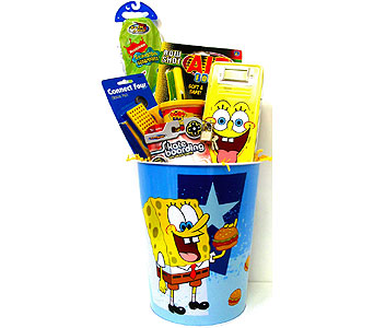KGB29  ''Sponge Bob Action'' Gift Basket in Oklahoma City OK, Array of Flowers & Gifts