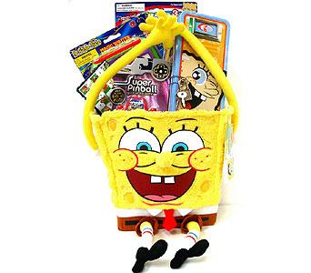 KGB26  ''Under the Sea'' Sponge Bob Gift Basket in Oklahoma City OK, Array of Flowers & Gifts