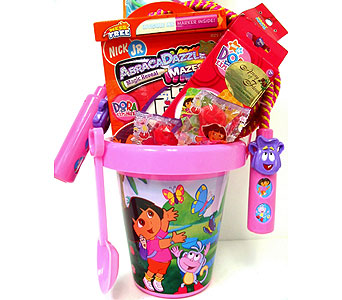 KGB21  ''Dora the Explorer'' Gift Basket in Oklahoma City OK, Array of Flowers & Gifts