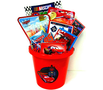 KGB22  ''Race On'' Disney Cars Gift Basket in Oklahoma City OK, Array of Flowers & Gifts