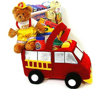 KGB30 ''Fireman to the Rescue'' Kids Gift Basket in Oklahoma City OK, Array of Flowers & Gifts