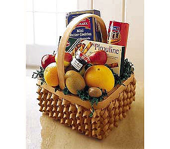 Fruit and Cookies Basket in New York NY, CitiFloral Inc.