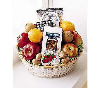 Fruit & Munch Basket in New York NY, CitiFloral Inc.