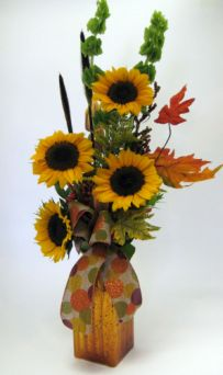 SUNFLOWER VASE in Salisbury MD, Kitty's Flowers