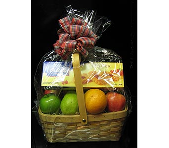 Fruit and Cookie Picnic Basket in New Paltz NY, The Colonial Flower Shop