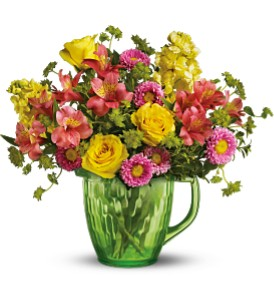 Teleflora's Spring Pitcher Bouquet in Fife WA, Fife Flowers & Gifts