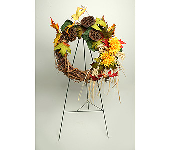 Fall Cemetery Wreath in Oshkosh WI, House of Flowers