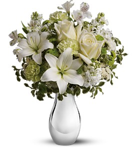 Teleflora's Silver Reflections Bouquet in McHenry IL, Locker's Flowers, Greenhouse & Gifts