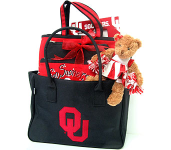 ''OU Purse Full of Pride'' in Oklahoma City OK, Array of Flowers & Gifts