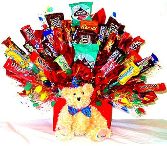 Birthday Hugs Candy Bouquet in Oklahoma City OK, Array of Flowers & Gifts
